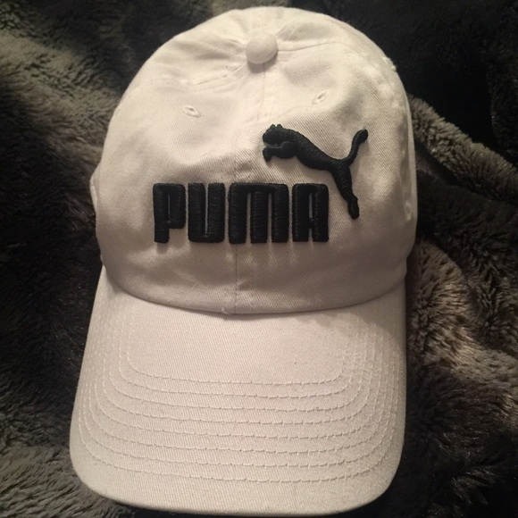 67248e61 White and black Puma sporty Dad hat!! M_5aa1c0868df470b96c5719ce. Other  Accessories ...